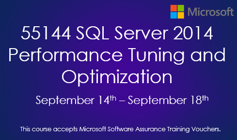 55144 SQL Server 2014 Performance Tuning and Optimization
